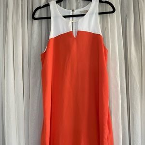 Gianni Bini Orange & White High/Low Tank Dress